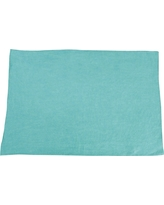 Fringed Design Stone Washed Placemats Sea Green (Set of 4)