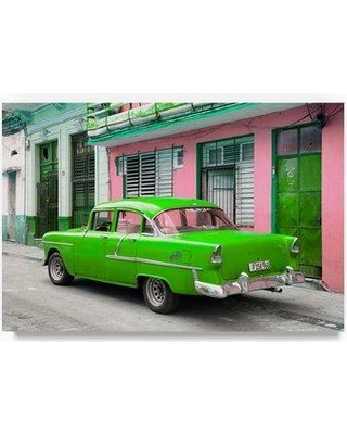"Trademark Art 'Old Cuban Car' Photographic Print on Wrapped Canvas PH00632-C Size: 16"" H x 24"" W"