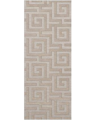 """Everly Quinn Jessica Tufted Wool Putty Area Rug W001587292 Rug Size: Runner 2'6"""" x 10'"""