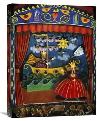 "Global Gallery 'Opera' by Judy Byford Painting Print on Wrapped Canvas GCS-281807-22-142 / GCS-281807-30-142 Size: 30"" H x 22.73"" W x 1.5"" D"