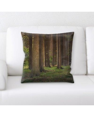 East Urban Home Forest Throw Pillow W000748026