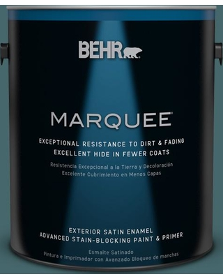 BEHR MARQUEE 1 gal. #500F-7 Mythic Forest Satin Enamel Exterior Paint and Primer in One