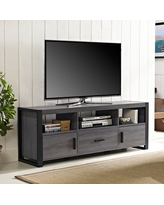 """Walker Edison Urban Industrial TV Stand for TVs up to 66"""" - Charcoal"""