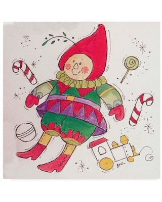 Trademark Fine Art 'Elf With Toys' Canvas Art by Beverly Johnston