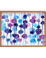 CMYKaren Abstract Watercolor Rectangle Tray - Purple