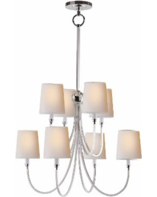 Visual Comfort and Co. Thomas O'Brien Reed 26 Inch 8 Light Chandelier - TOB 5010PN-NP