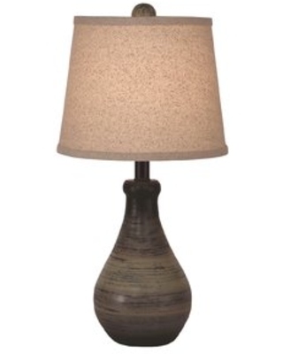 """Yarber Small Eggplant Clay 16"""" Table Lamp Gracie Oaks"""