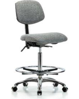 Symple Stuff Charlotte High Bench Ergonomic Office Chair BI162140 Casters/Glides: Casters Color (Upholstery): Gray Tilt Function: Included