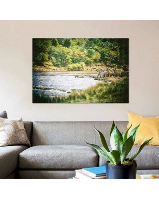 """East Urban Home 'African Plains VIII' Photographic Print on Canvas UBHM8840 Size: 26"""" H x 40"""" W x 1.5"""" D"""