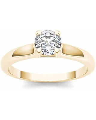 7/8 Carat T.W. Diamond Solitaire 14kt Yellow Gold Engagement Ring