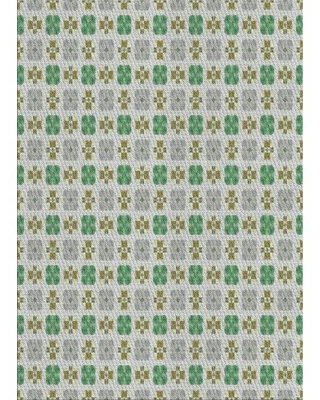 Patterned Green/Gray Area Rug East Urban Home Rug Size: Rectangle 3' x 5'