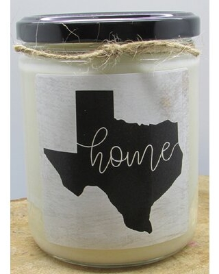 Texas State Cranberry Scented Jar Candle Gracie Oaks