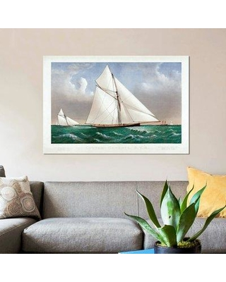 "East Urban Home 'The Cutter Genesta 1885' Graphic Art Print on Canvas ERBR1130 Size: 12"" H x 18"" W x 1.5"" D"