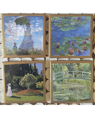 Coasters! Monet coasters with gold trim