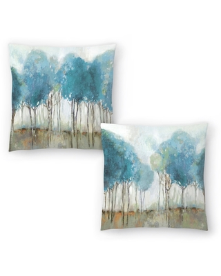 Misty Meadow I and Misty Meadow II Set of 2 Decorative Pillows