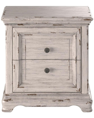 Providence Antique White 2 Drawer Nightstand