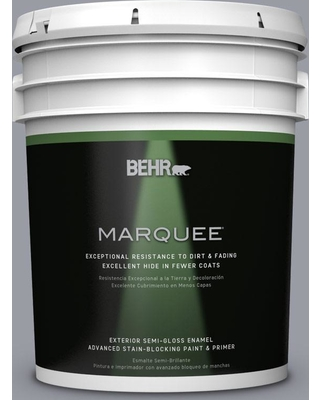 BEHR MARQUEE 5 gal. #PPU26-20 Smokey Lilac Semi-Gloss Enamel Exterior Paint and Primer in One