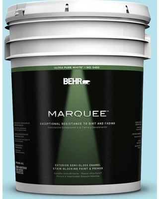 BEHR MARQUEE 5 gal. #510A-3 Fresh Water Semi-Gloss Enamel Exterior Paint and Primer in One
