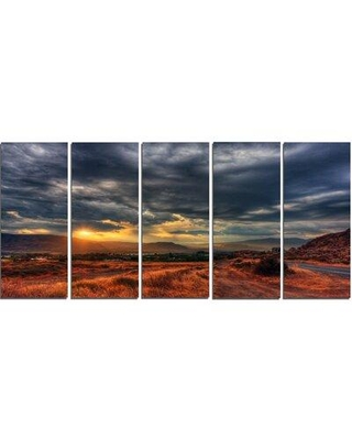 Design Art 'Beautiful Sunrise in Osoyoos' 5 Piece Photographic Print on Wrapped Canvas Set PT14447-401