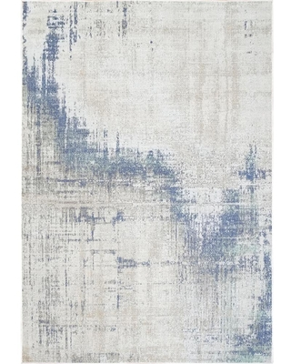 Dynamic Rugs Bristol Light Blue 7 ft. 10 in. x 10 ft. 10 in. Abstract Area Rug