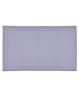 Special Prices On Wavy Stripes Light Blue Purple Red Area Rug East Urban Home Rug Size Round 5