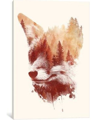 """East Urban Home 'Blind Fox' Painting Print on Wrapped Canvas ESTN6760 Size: 40"""" H x 26"""" W x 1.5"""" D"""