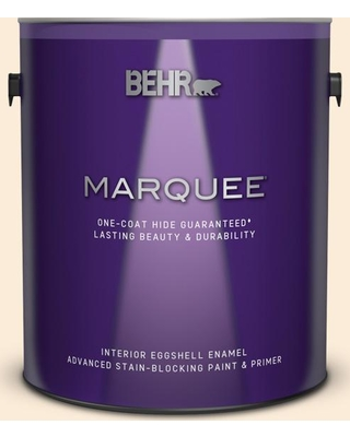 BEHR MARQUEE 1 gal. #OR-W01 White Blush Eggshell Enamel Interior Paint and Primer in One