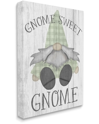 """Stupell Industries Gnome Sweet Gnome Canvas Wall Art 