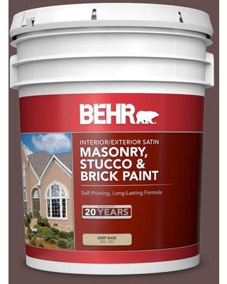 BEHR 5 gal. Home Decorators Collection #HDC-CL-13A Library Leather Satin Interior/Exterior Masonry, Stucco and Brick Paint
