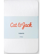 Toddler Girls' Solid Opaque Tights Cat & Jack - White 2T-3T