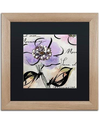 "Trademark Art 'Dogwood II' by Color Bakery Framed Graphic Art ALI4249-T1 Mat Color: Black Size: 16"" H x 16"" W x 0.5"" D"