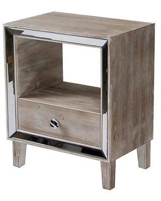 Amazing Savings On Lindy End Table With Storage House Of Hampton Color White Wash