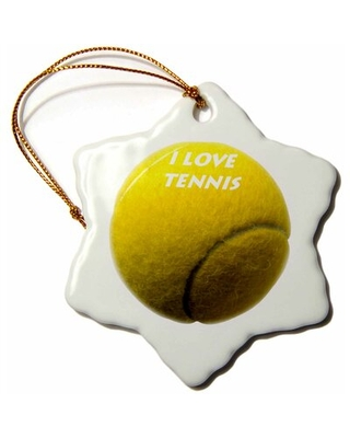 Love Tennis Holiday Shaped Ornament The Holiday Aisle®