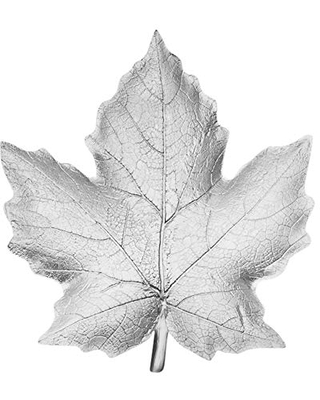 Sagebrook Home, Silver Decorative Resin Maple Leaf Plate, 10.5 x 9.75 x 1.25 Inches