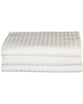 Baltic Linen Chelsea 250 Thread Count Hotel Flat Sheets Queen White 3 Pack