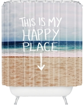 Happy Place X Beach Shower Curtain DENY Designs, Blue Desert