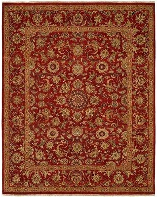 Astoria Grand Marquardt Hand Knotted Wool Red Area Rug ARGD6735 Rug Size: Rectangle 6' x 9'