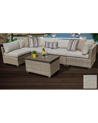 Sol 72 Outdoor™ Rochford 6 Piece Sectional Seating Group with Cushions X112364455 Cushion Color: Ash