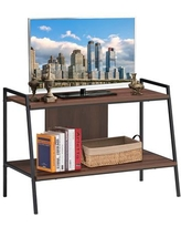 Costway 2-Tier TV Stand Entertainment Center for TV's Up to 40'' w/ - 35'' x 17'' x 23.5''
