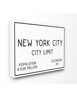 The Stupell Home Decor Collection NYC City Limit Stretched Canvas Wall Art