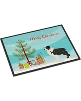 """The Holiday Aisle Border Collie Door Mat THLA3982 Mat Size: 1'6"""" x 2'3"""""""