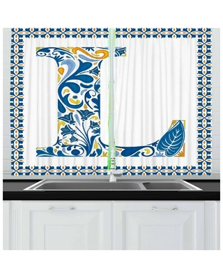 2 Piece Letter L Kitchen Curtain East Urban Home