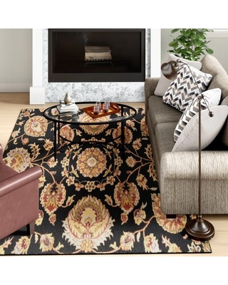 Bartz Black Area Rug Darby Home Co Rug Size: Rectangle 7' x 10'