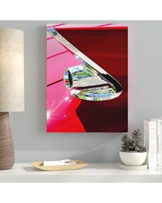 """Ebern Designs Jaws Photographic Print on Wrapped Canvas EBND3798 Size: 48"""" H x 36"""" W"""