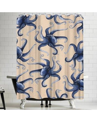 East Urban Home Jetty Printables Nautical Octopus Shower Curtain URBR5157