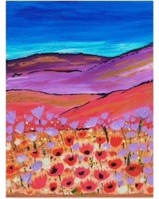 """Bungalow Rose 'Poppy Fields' Acrylic Painting Print on Wrapped Canvas BGLS5662 Size: 19"""" H x 14"""" W x 2"""" D"""