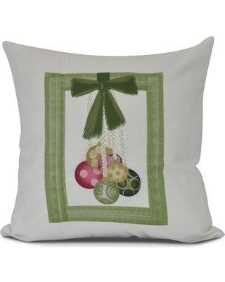 The Holiday Aisle Frame It Up Euro Pillow HLDY7478 Color: Bright Green