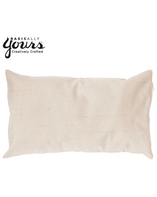"""Natural Canvas Pillow Cover - 12"""" x 20"""""""