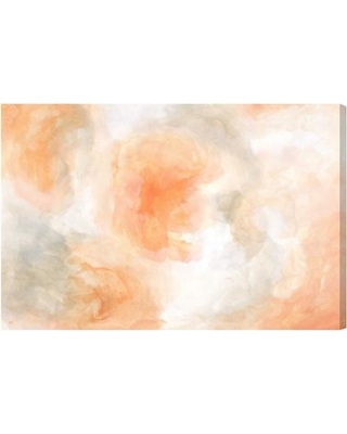 """House of Hampton® Flower Palette by Oliver Gal - Graphic Art Print on Canvas, Canvas & Fabric in Orange/Gray/White, Size 30"""" H x 45"""" W x 1.5"""" D"""
