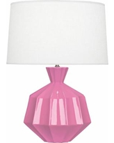 Robert Abbey Orion Schiaparelli Pink Ceramic Table Lamp